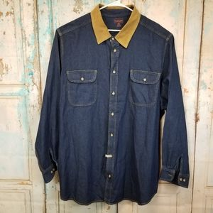 Boulder Creek Denim Shirt Size 4XLT